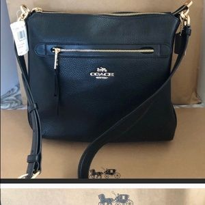 Coach MAE Crossbody Black Pebble Leather  NWT